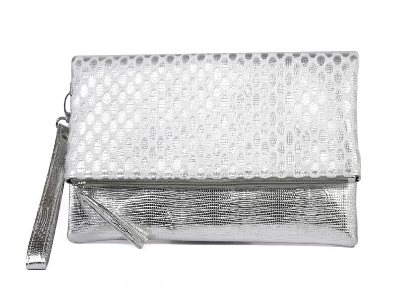 Buy Rysha Sliver Net & Pu Self Design Clutch For Womens - Ry1020 online