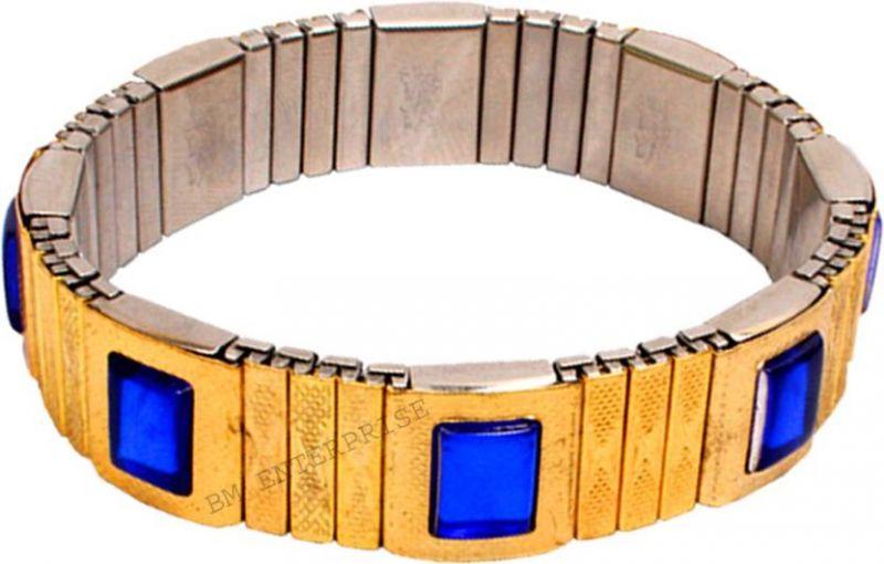 Buy Navistha Men's Blood Pressure Control Magnetic Bracelet Bp Monitor (golden) online