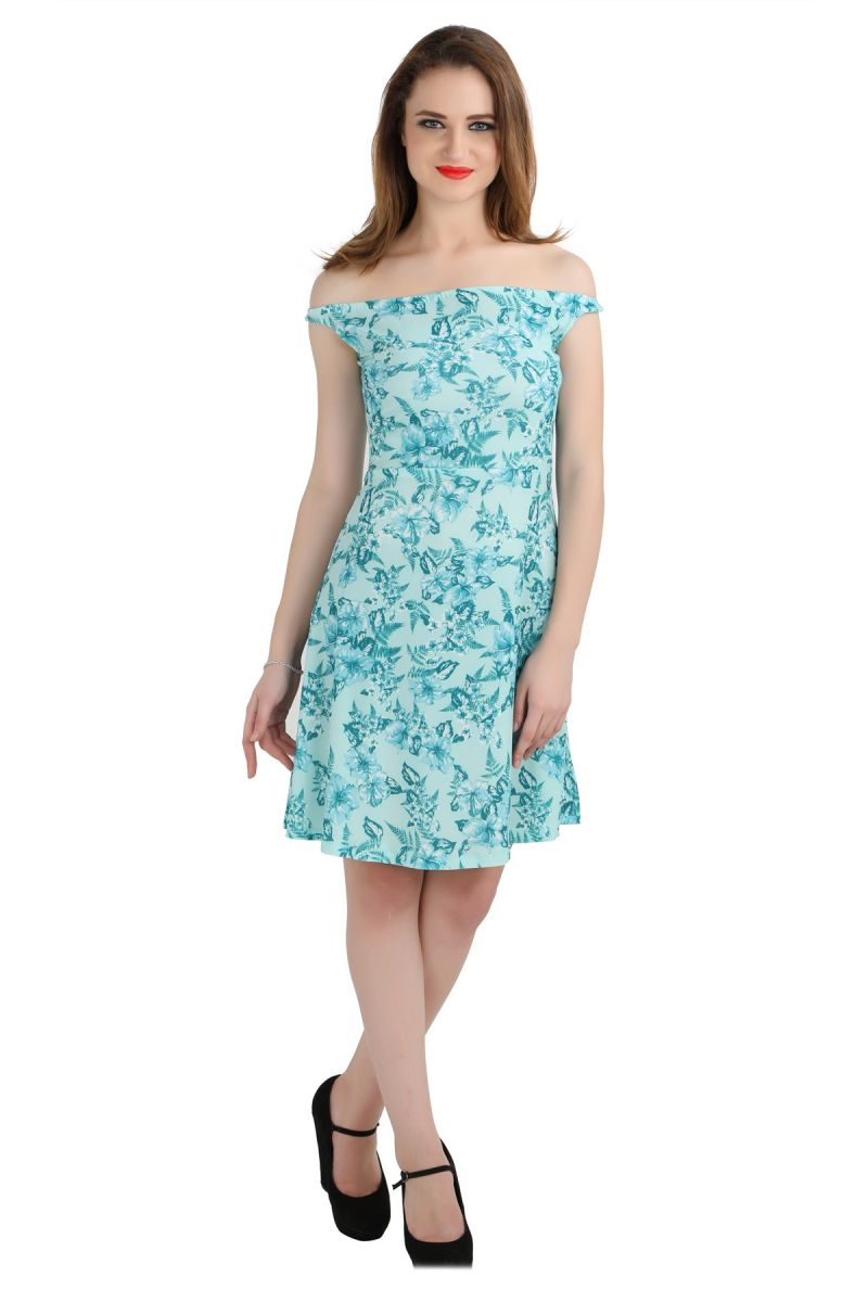 Buy Bella Figura Couture Green Moss Crepe Printed Dress For Women-bf140ag online