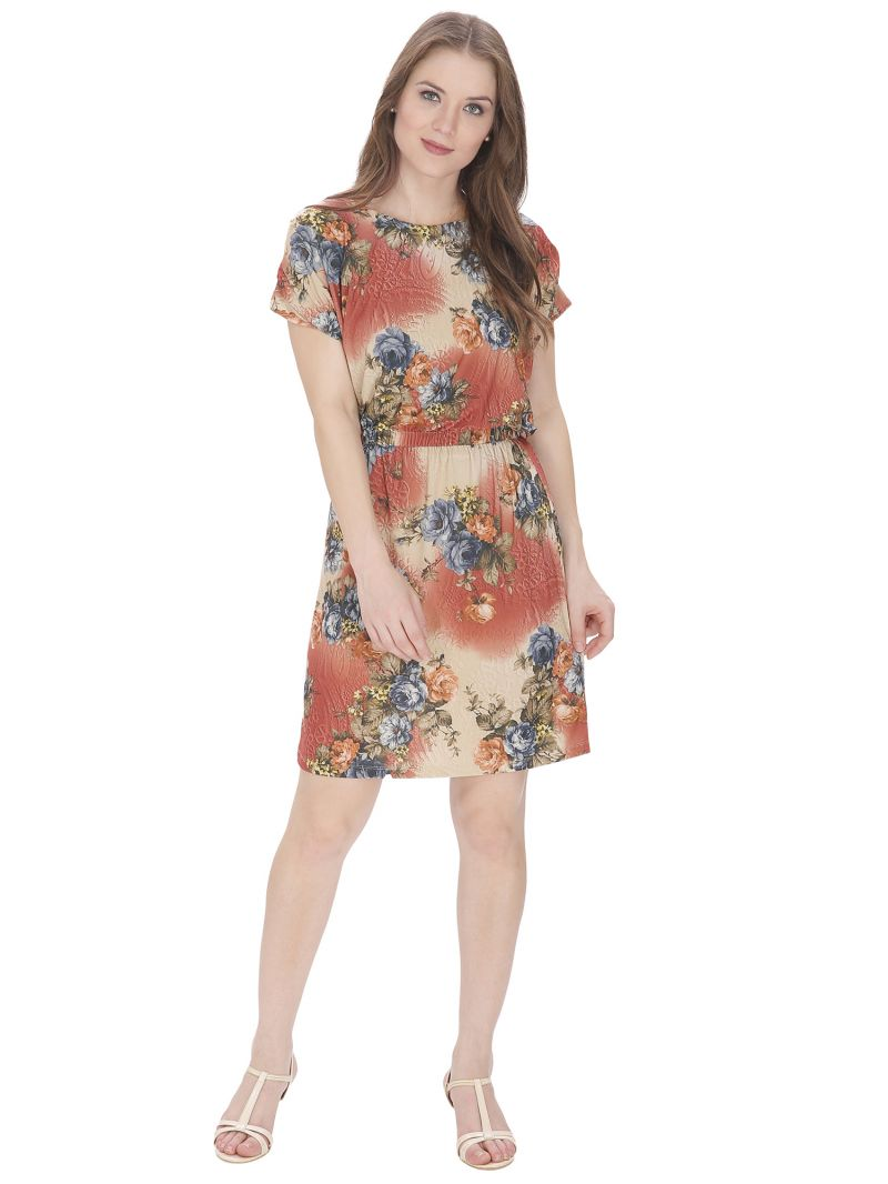 Buy Bella Figura Couture Multicolor Printed Dress For Women - Bf147bmul online