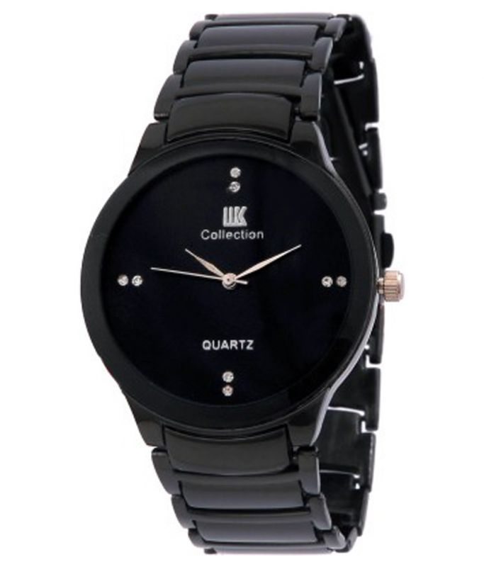 Buy Iik Collection Black Analog Watch online