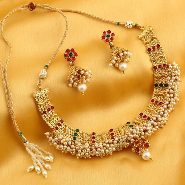 Buy Sukkhi Trendy Reversible Gold Plated Necklace Set For Women online