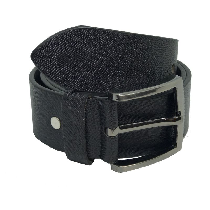 Buy Jl Collections Sufiano Men Casual Black Genuine Leather Belt online