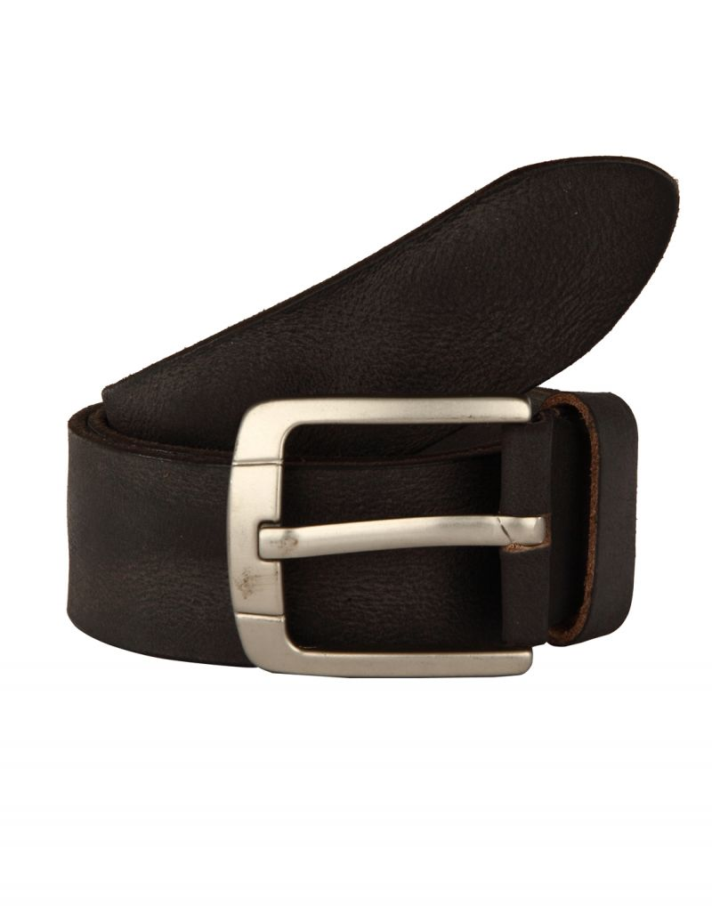Buy Jl Collections Men's Casual Black Single Hide Genuine Leather Belt online
