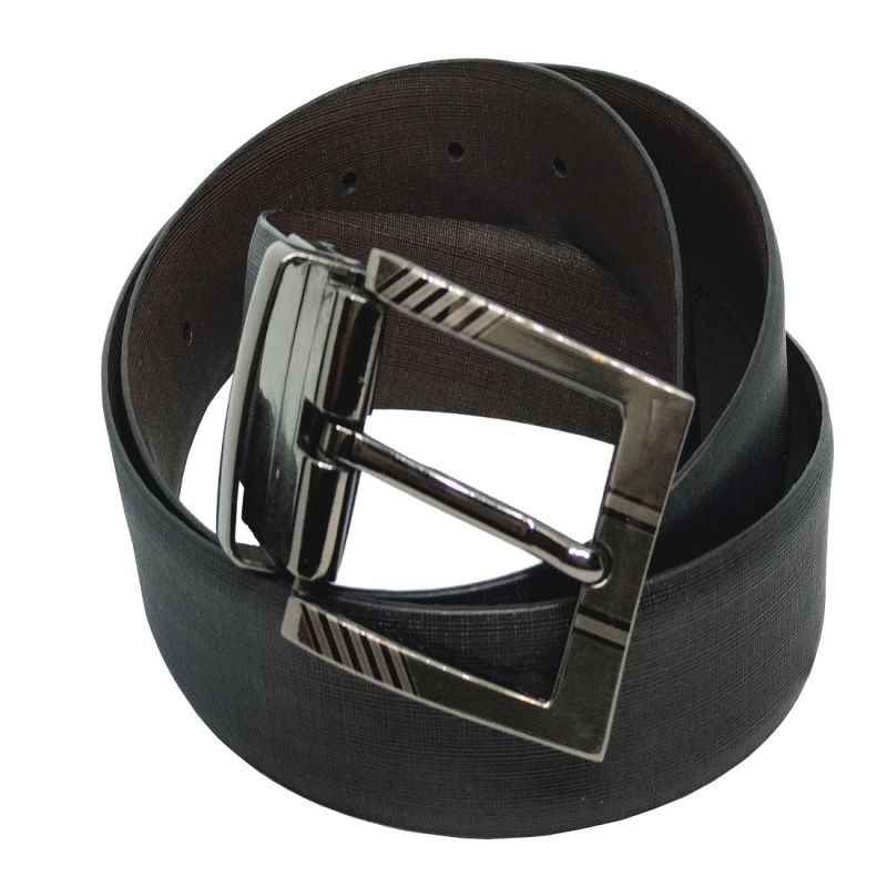 Buy Jl Collections Cross Liner Men Formal Black And Brown Genuine Leather Reversible Belt online
