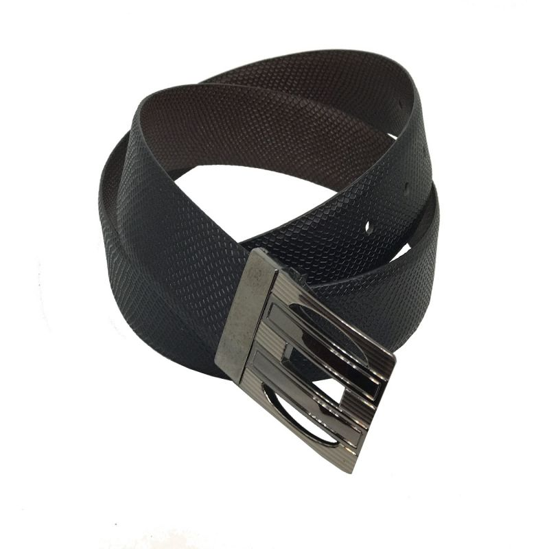Buy Jl Collections Milano Men Formal Black And Brown Genuine Leather Reversible Belt online