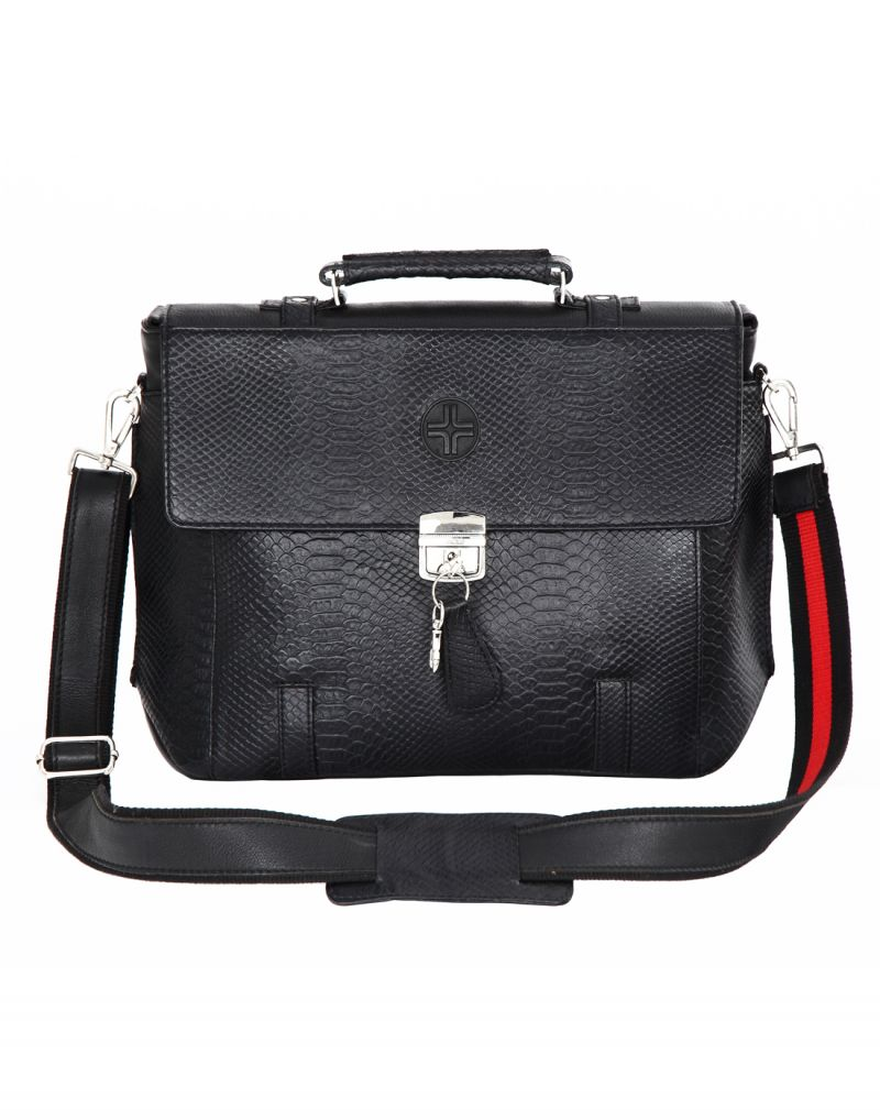 Buy Jl Collections Black Leather Laptop Executive Messenger Bag (code - Jl_eb_3479) online
