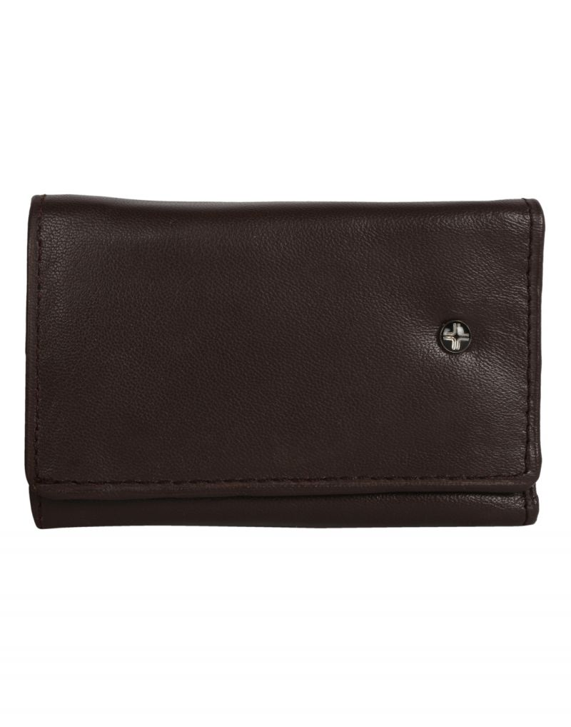 Buy Jl Collections Brown Leather Key Holder Wallet online