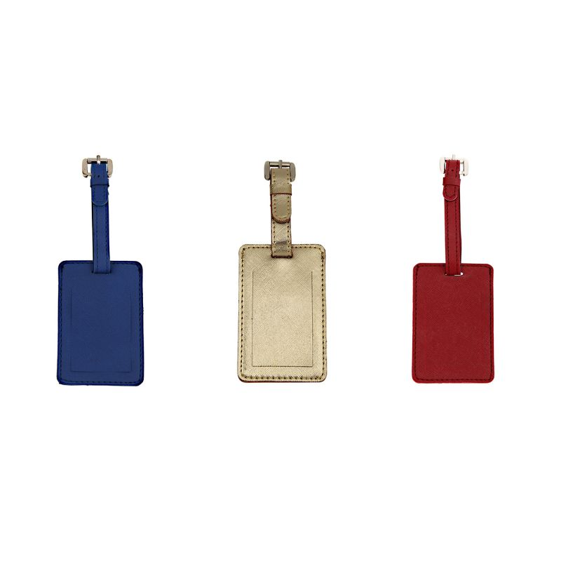 Buy JL Collections Polyurethane (PU) Multicolor Luggage Tags for Suitcases and Bags (Pack of 3) online