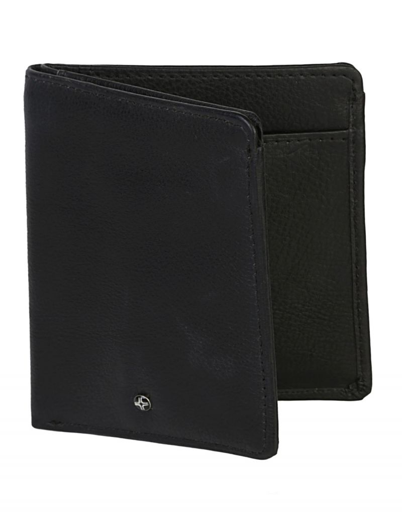 Buy Jl Collections 8 Card Slots Men's Black Leather Wallet online