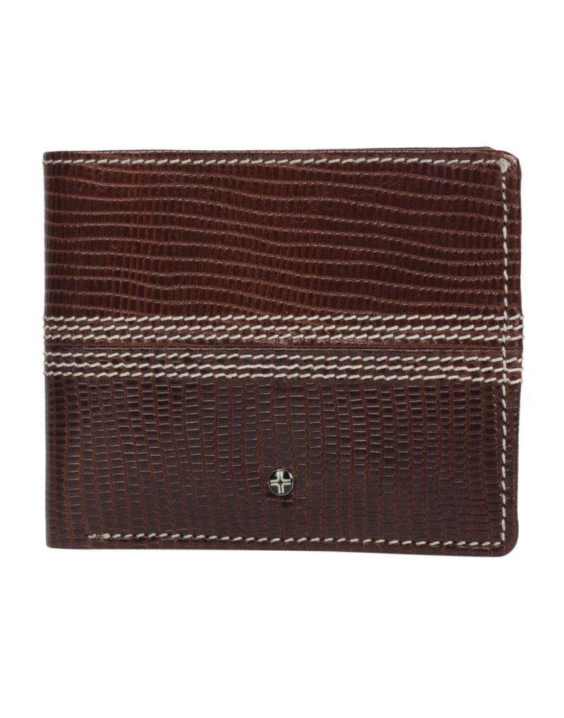 Buy Jl Collections 6 Card Slots Men's Brown Leather Wallet online
