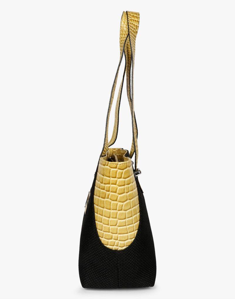 f0b9324b4b JL Collections Women's Leather & Jute Black and Beige Shoulder Bag. 40%