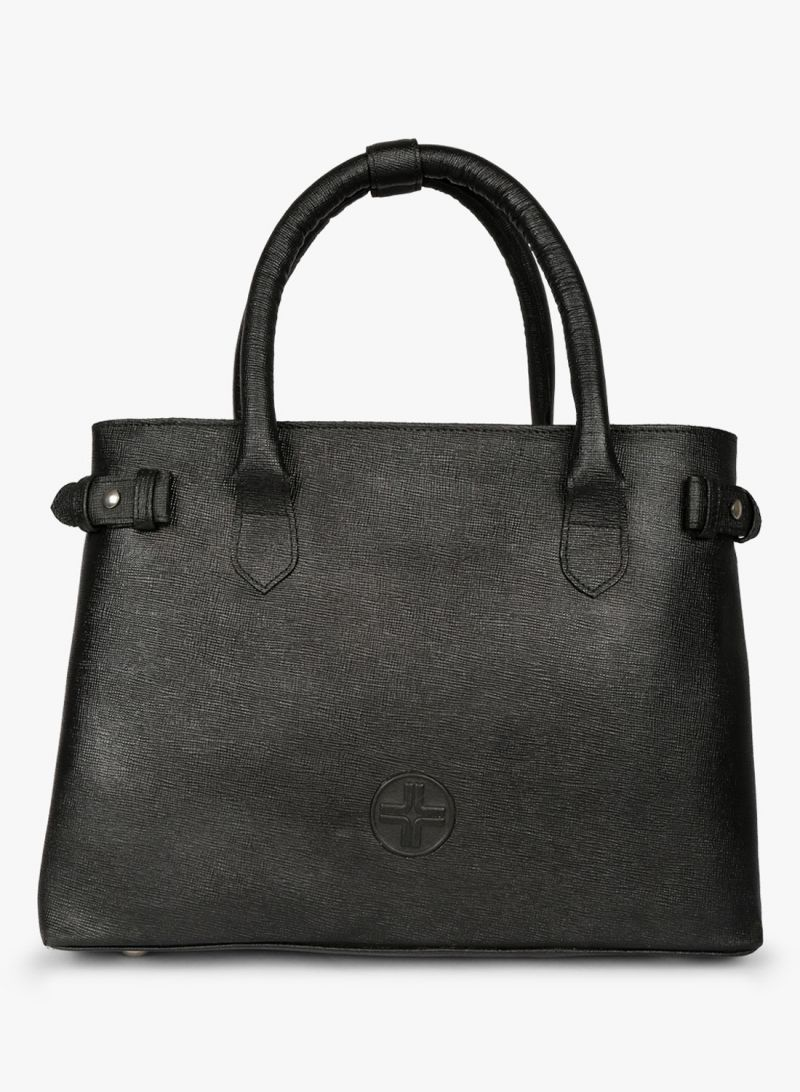 Buy JL Collections Women's Leather Black Handbag online