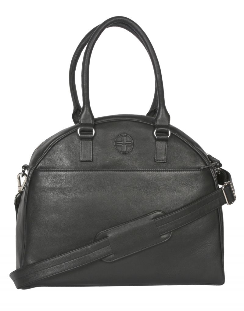 Buy Jl Collections Women's Leather Black Tote Bag online