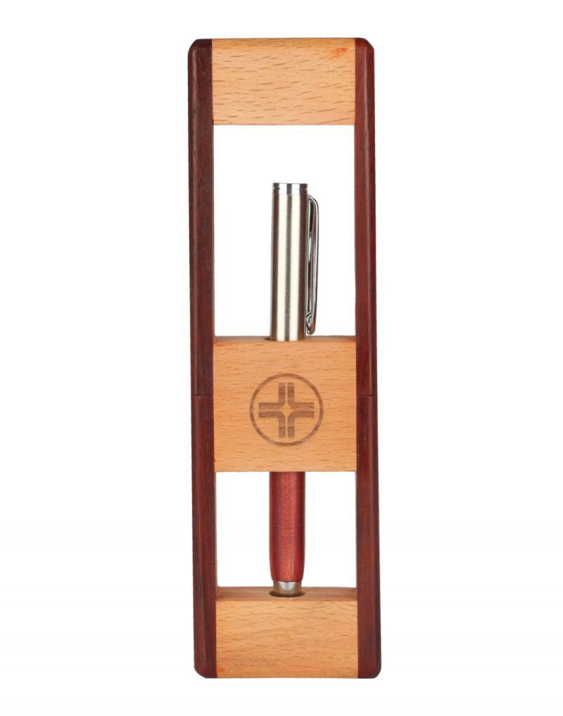 Buy Jl Collections Wooden Camel And Brown Pen Holder online
