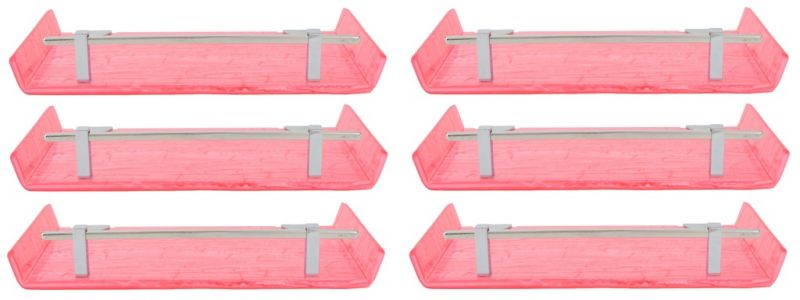 Buy Mercebull 12x5 Inch Pink Marble Desisgned Acrylic Wall Shelf - Combo Of 6 online