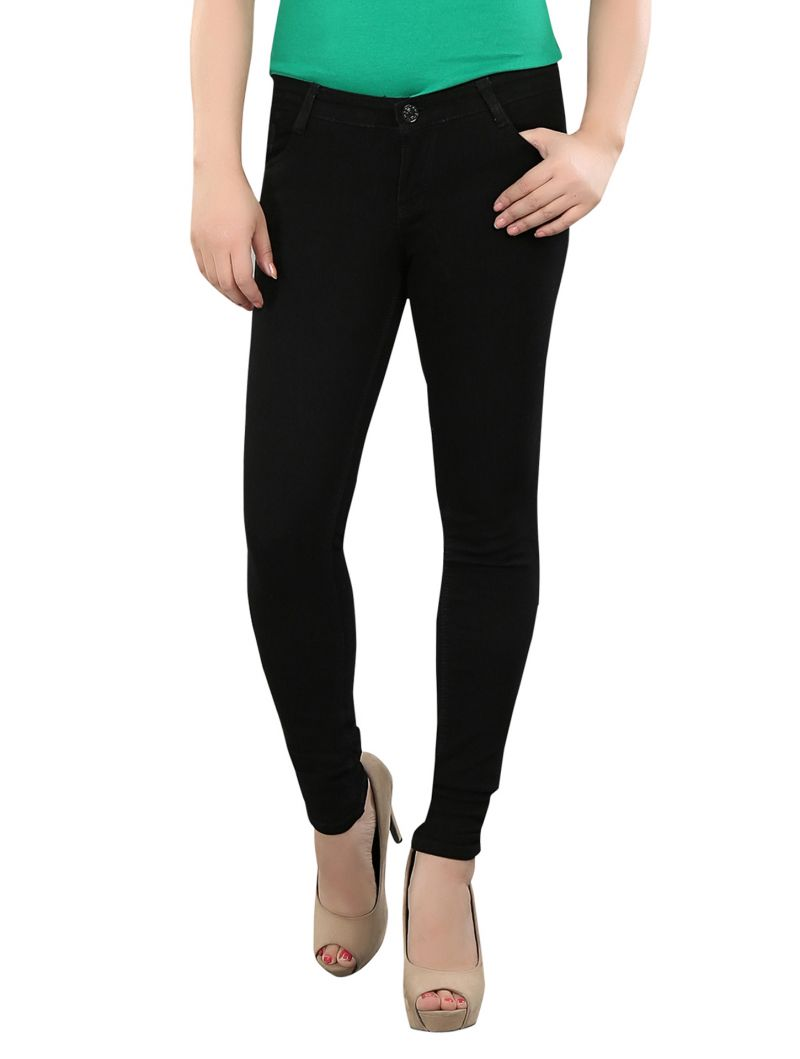 Buy Shirley Women's Black Ultra Soft Jeans Jeans5pocket-black online