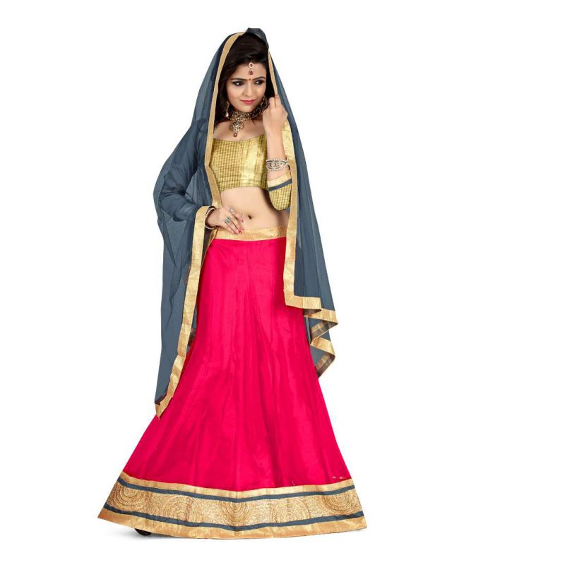 Buy Anu Clothing Gajri (red) Net Womens Lehenga Choli Aa106 online