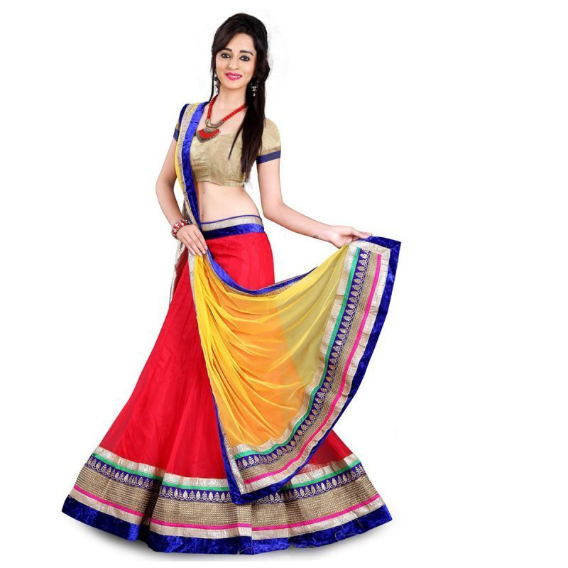 Buy Fabliva New Designer Red Lehenga Choli online