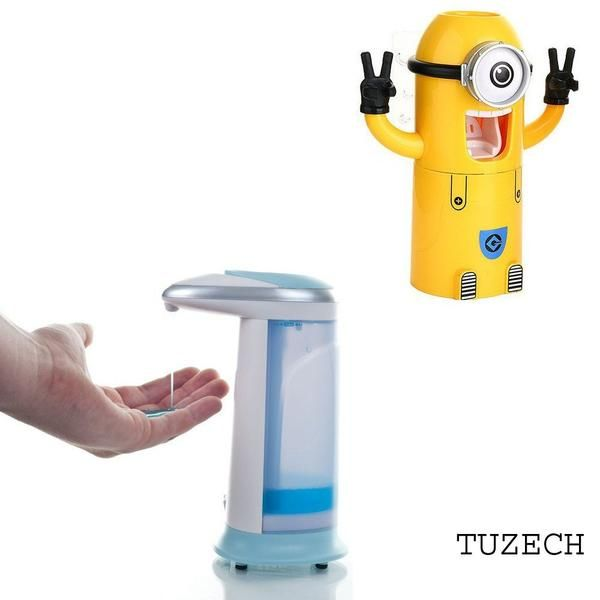Buy Inindia Combo Minion Toothpaste Dispenser And Plastic Soap Dispenser online