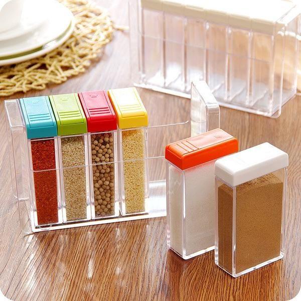 designer kitchen storage containers.  Designer Kitchen Storage Condiment Box 65 Buy Inindia 6 In 1 Transparent