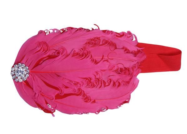 Buy Inindia Redistic Red Robust Elastic With Feathers Head Band online