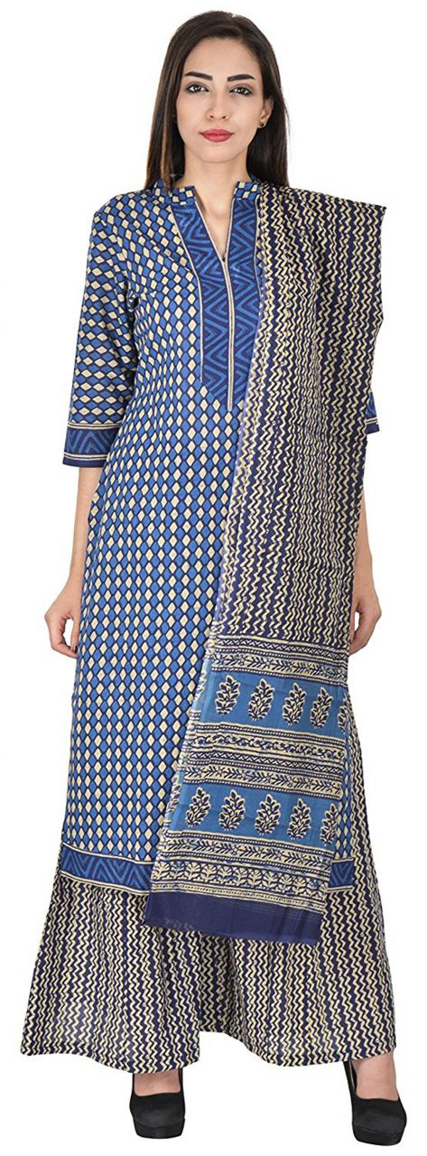 Buy Aaditri Clothing Ethnic Dress Material Cotton Multi-coloured For Women(77201711) online