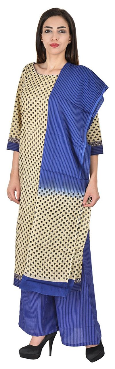 Buy Aaditri Clothing Ethnic Dress Material Cotton Multi-coloured Women(77201721) online