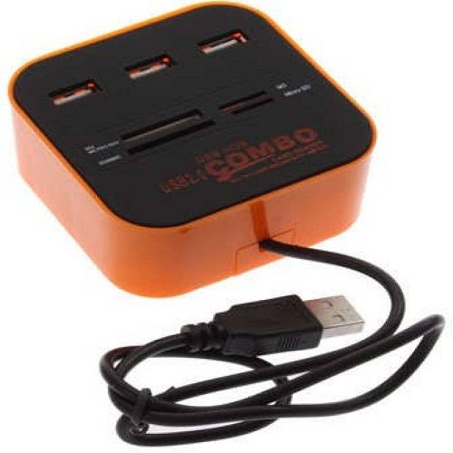 Buy Vu4 Combo Card Reader High Speed USB Hub (orange) online
