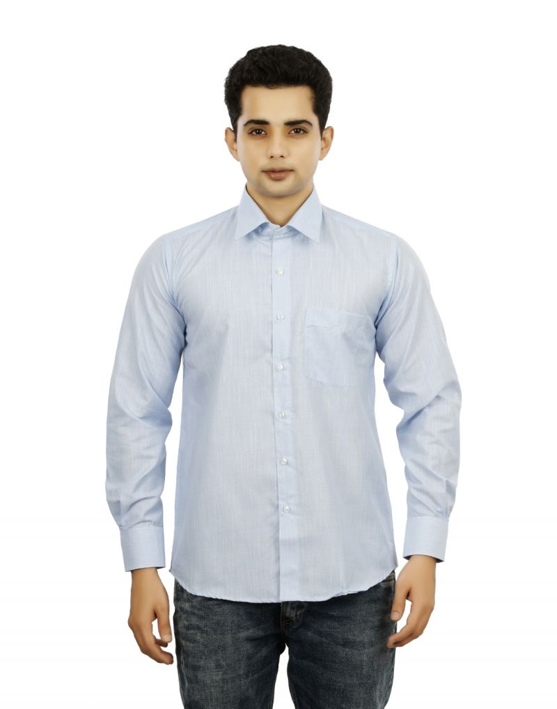 Buy Sky Blue Color Mens Formal Regular Fit Shirts - 3s0028 online