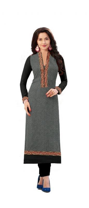 Buy Ravechi'S Latest Grey Colour Semi Stitched Straight Kurti online