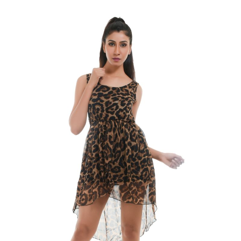 Buy Ziva Fashion Women's Animal Print Tunic - Jungle2 online