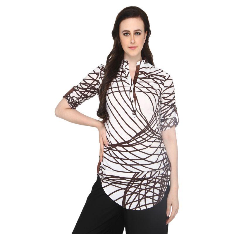 Buy P-nut Women's Rayon Printed Casual Top Om411d online