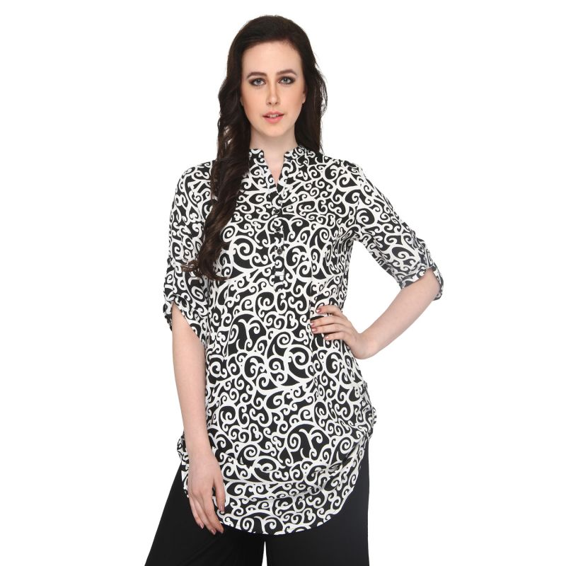 Buy P-nut Women's Rayon Printed Casual Top Om414 online