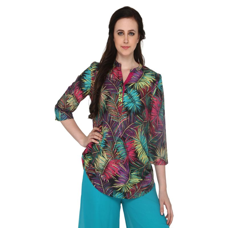 Buy P-nut Women's Cotton Floral Print Casual Top Om419a online