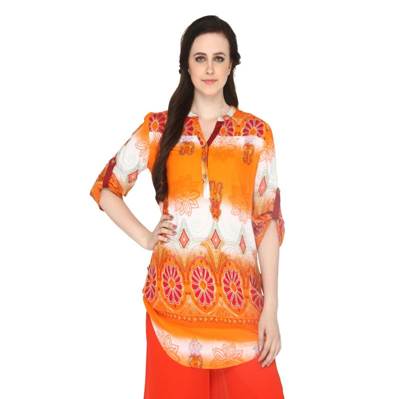 Buy P-nut Women's Cotton Printed Casual Top Om420b online
