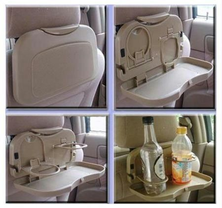 Buy Automobile Car Meal Plate Drink Cup Holder Foldable Portable Tray online