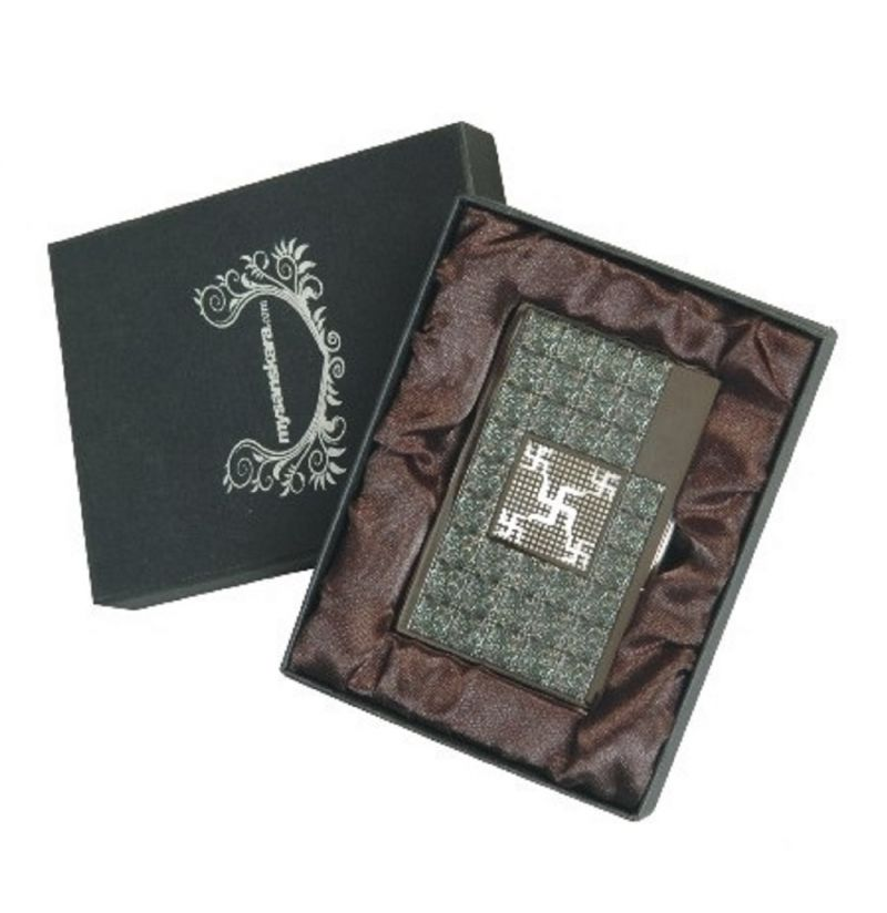 Buy Gifts N Promotions Swastika Metal Card Holder online