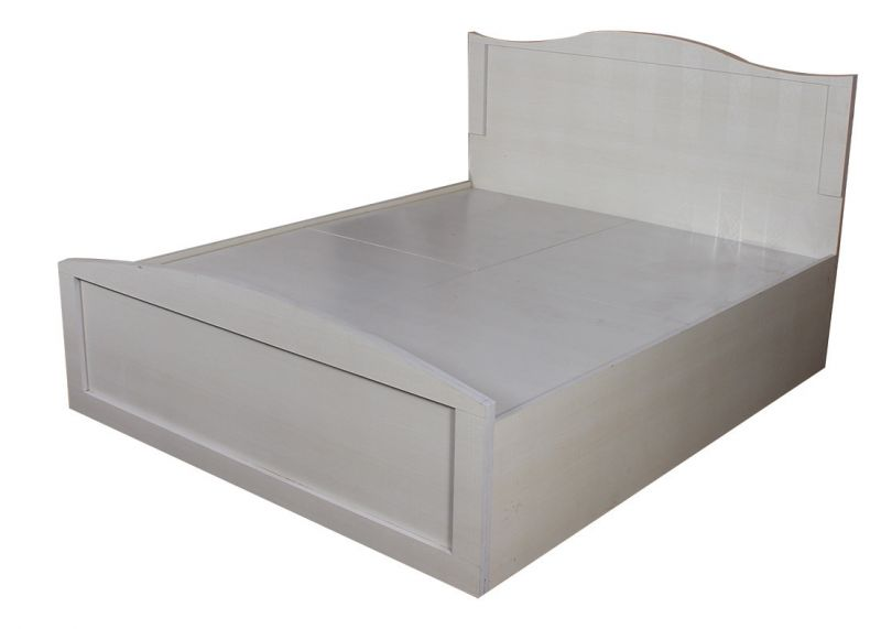 Buy White Queen Size Textured Bed With Storage online