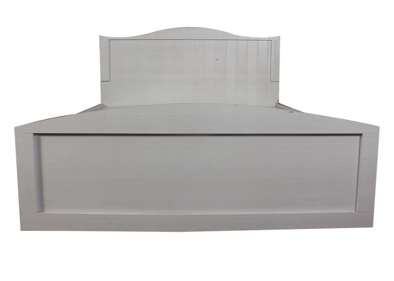 Buy White King Size Textured Bed With Storage online