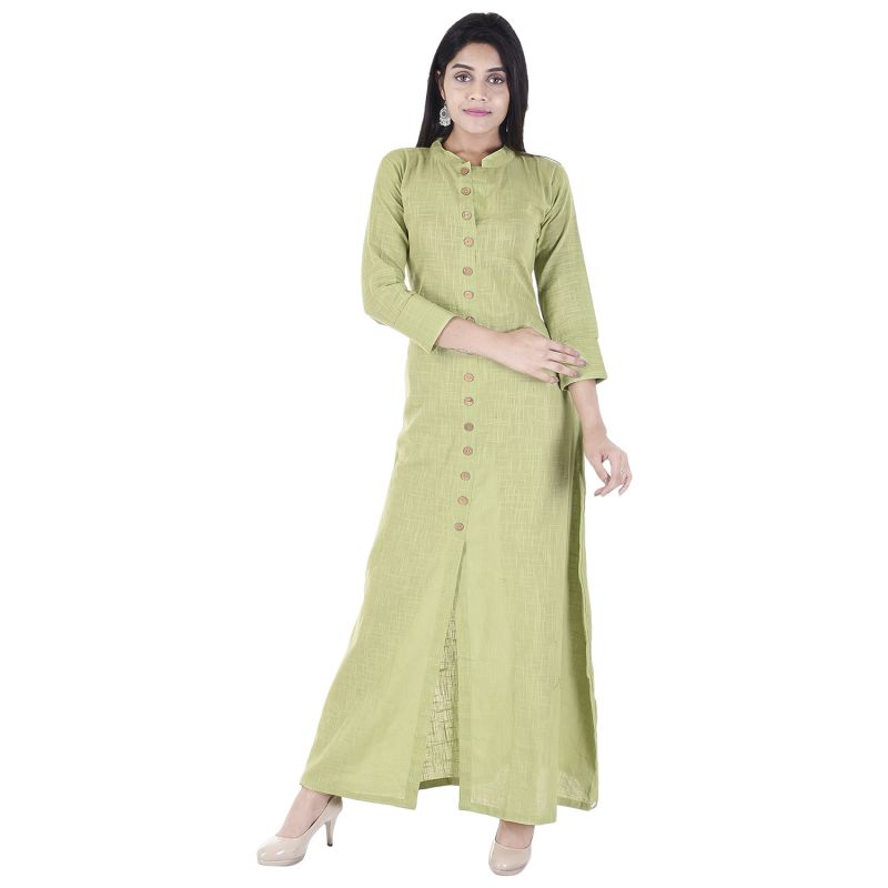 Buy Glorious Moment A-line Cotton Kurti(code-glorious-427-light Green) online