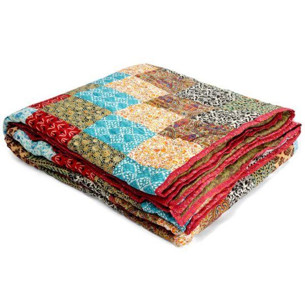 Buy Jodhaa Cotton Multicolor Doubles Quilt (code - 12rzda045) online
