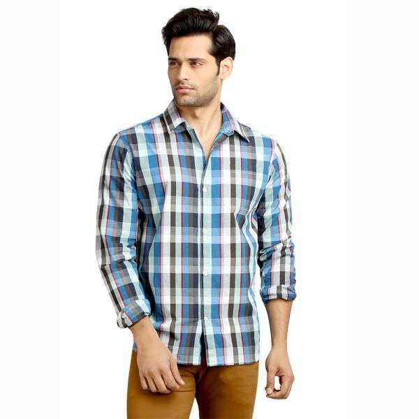 Buy London Bee Men's Cotton Checks Long Sleeve Slim Fit Shirt - ( Product Code - Mlslb0078 ) online
