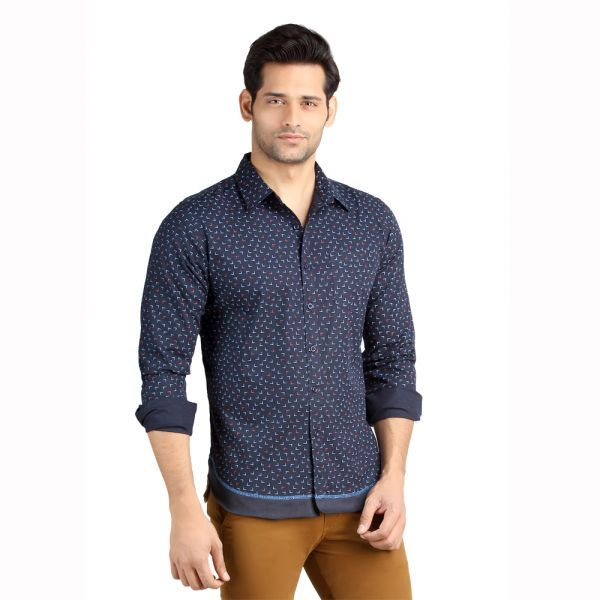 Buy London Bee Men's Cotton L Print Long Sleeve Slim Fit Shirt - ( Product Code - Mlslb0094 ) online