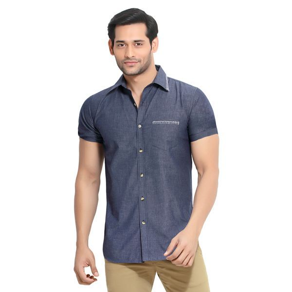 Buy London Bee Men's Cotton Solid Slim Fit Shirt- (product Code - Msslb0050) online