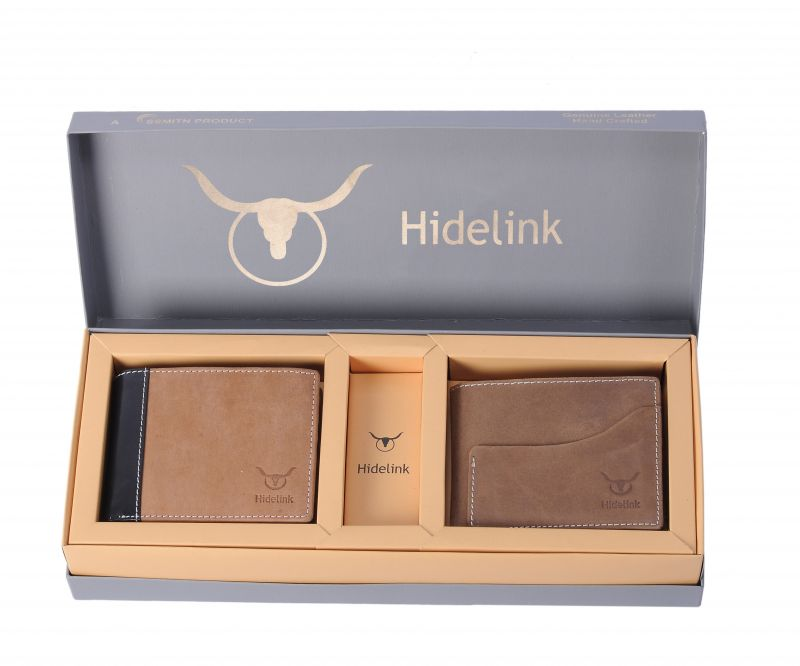 Buy Hidelink Men Brown Genuine Leather Wallet (swp119043) online