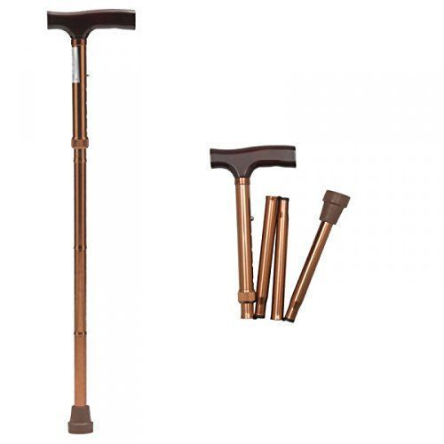 Buy Mcp Jindal Height Adjustable Foldable Walking Stick Brown online