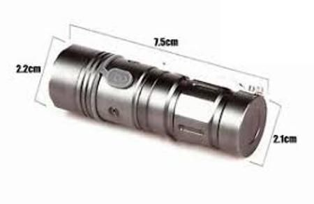 Buy Cree Mini LED Pocketable Rechargeable Torch,300meter,3 LED Modes online