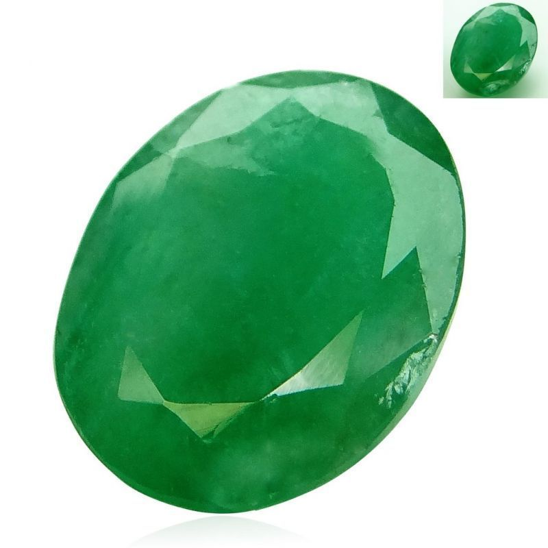 Buy 4.14 Ct. - 4.6 Ratti Emerald -panna Certified Gemstone By Arihant Gems and Jewels- online