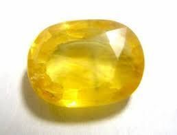 Buy Sobhagya Certified 8.95ct 9.88rt Yellow Sapphire, Pukhraj Stone online